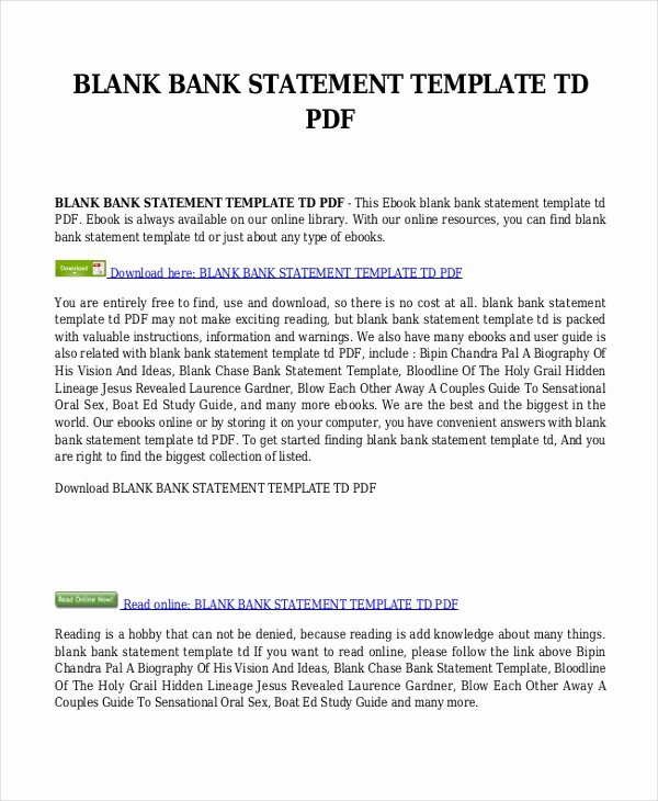Free Bank Statement Template Awesome Bank Statement Template 9 Free Word Pdf Document