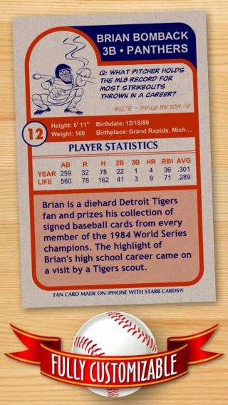 Free Baseball Card Template Beautiful Baseball Card Maker Ad Free — Make Your Own Custom