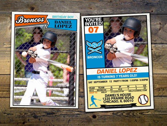 Free Baseball Card Template New 16 Baseball Card Templates Psd Ai Eps