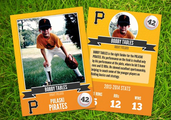 Free Baseball Card Template New 33 Trading Card Template Word Pdf Psd Eps