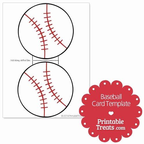 Free Baseball Card Template New Printable Baseball Card Template From Printabletreats
