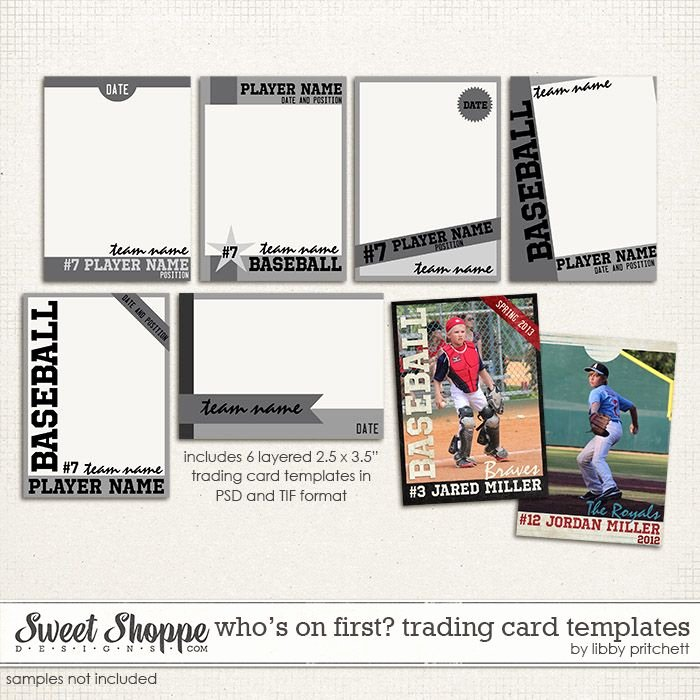 Free Baseball Card Template Unique Baseball Card Templates Digital Wishlist
