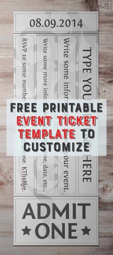 Free Baseball Ticket Template Awesome Free Printable event Ticket Template to Customize