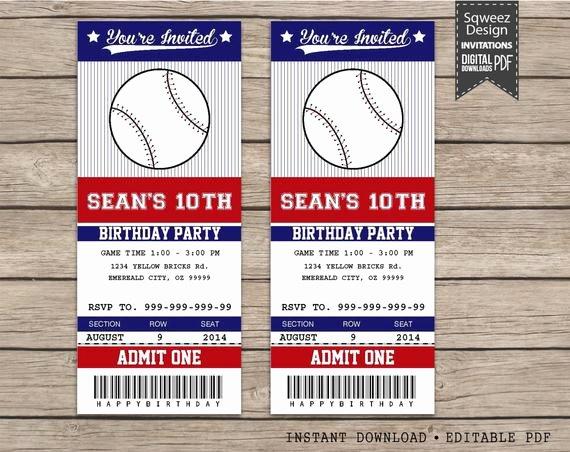 Free Baseball Ticket Template Beautiful Baseball Ticket Invitations Template – orderecigsjuicefo