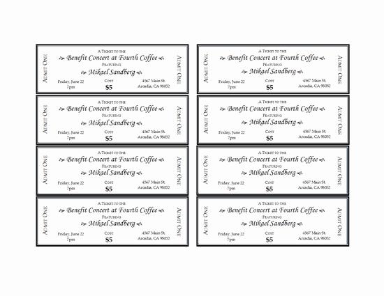 Free Baseball Ticket Template Beautiful event Tickets