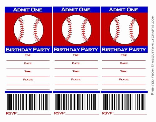 Free Baseball Ticket Template Best Of 9 Best Of Free Baseball Printable Invitation