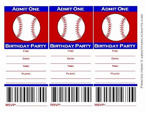 Free Baseball Ticket Template Best Of 9 Best Of Free Baseball Printable Invitation