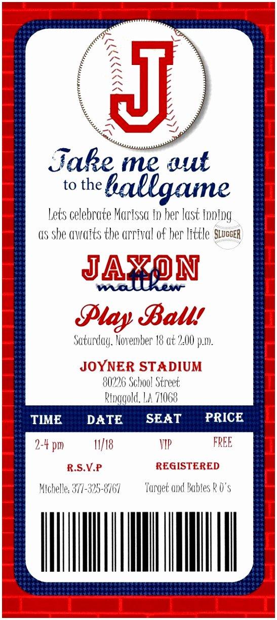 Free Baseball Ticket Template Elegant 10 Baseball Ticket Invitation Template Free Ewatc
