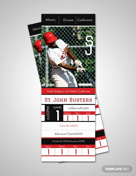 Free Baseball Ticket Template Elegant Free Birthday Admission Ticket Template Download 57