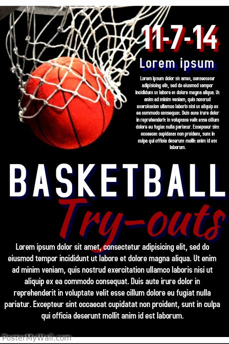 Free Basketball Flyer Template Awesome Basketball Try Out Template