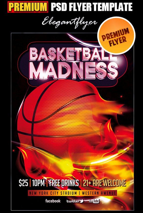 Free Basketball Flyer Template Lovely 31 Basketball Flyers Psd Ai Vector Eps