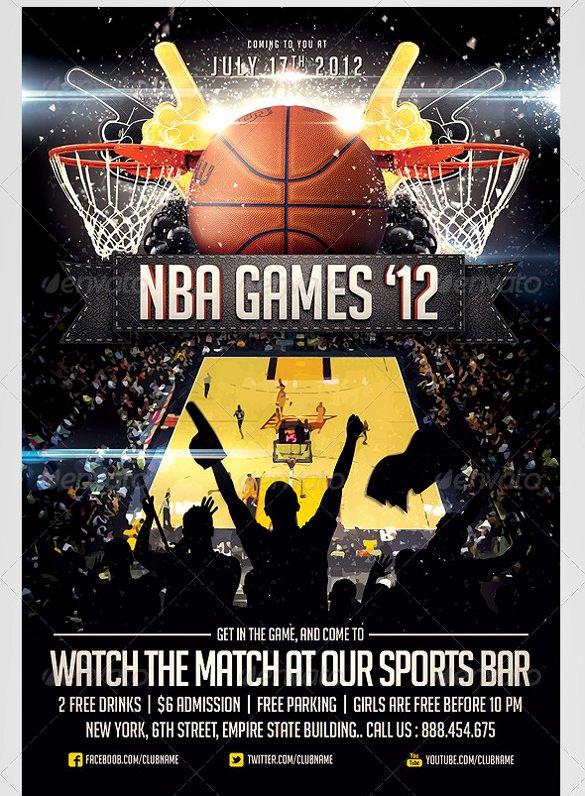 Free Basketball Flyer Template New 31 Basketball Flyers Psd Ai Vector Eps