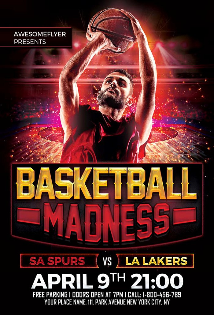 Free Basketball Flyer Template New 36 Basketball Flyer Psd Templates Free & Premium Designyep