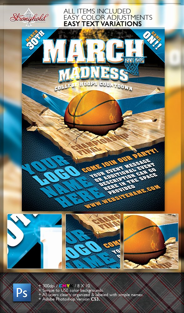 Free Basketball Flyer Template Unique March Madness Basketball Flyer Template On Behance