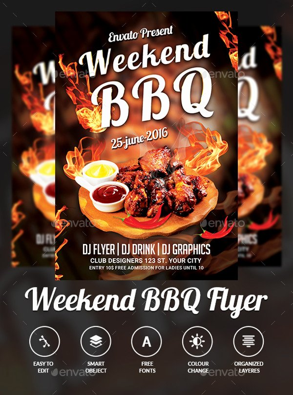 Free Bbq Flyer Template Awesome 31 Bbq Flyer Templates Psd Vector Eps Jpg Download