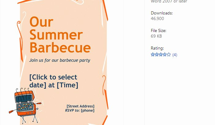 Free Bbq Flyer Template Awesome 4 Free Bbq Flyer Templates