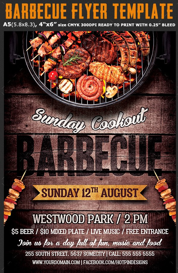 Free Bbq Flyer Template Best Of 20 Free Psd Barbeque Flyer Templates for the Best events