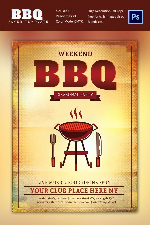 Free Bbq Flyer Template Best Of 28 Bbq Flyer Templates Free Word Pdf Psd Eps