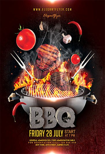 Free Bbq Flyer Template Elegant Barbecue Bbq – Free Flyer Psd Template – by Elegantflyer
