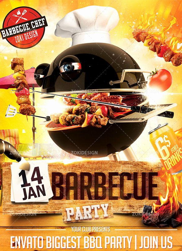 Free Bbq Flyer Template Fresh 20 Bbq Flyer Templates – Free Word Pdf Psd Eps