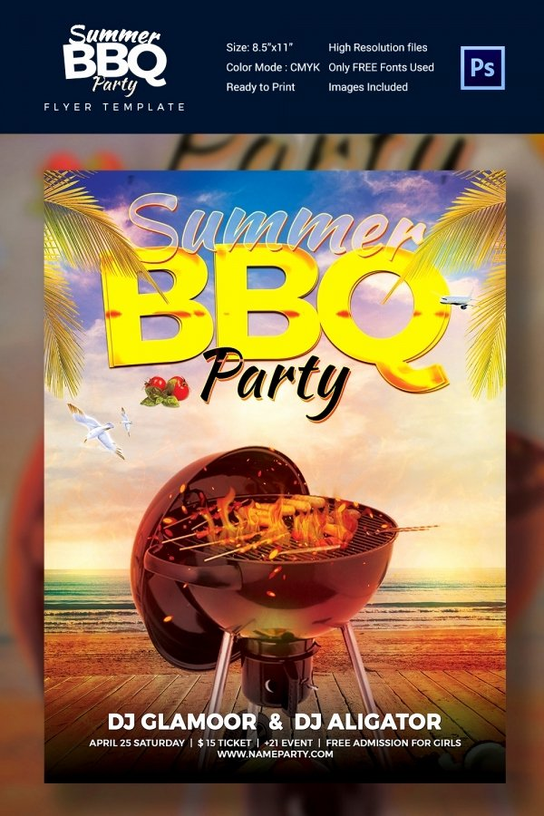 Free Bbq Flyer Template Lovely 28 Bbq Flyer Templates Free Word Pdf Psd Eps