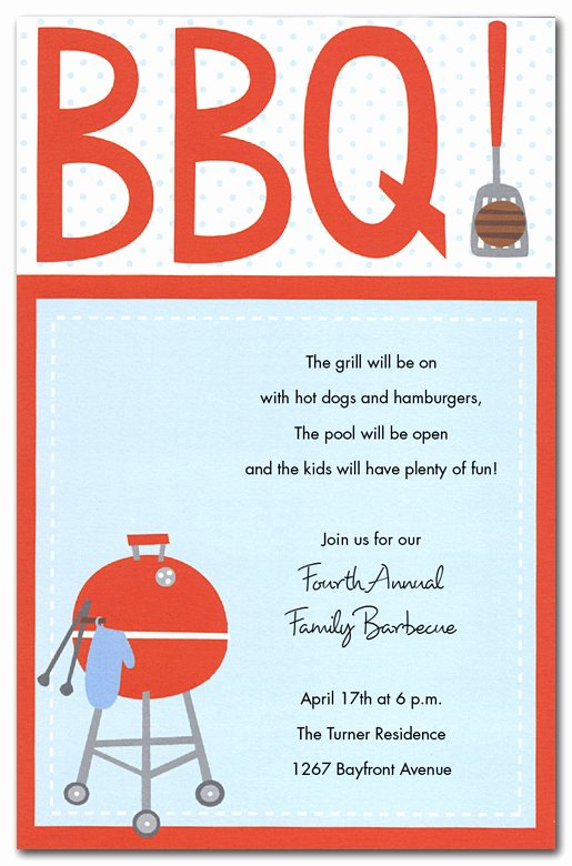 Free Bbq Flyer Template New 15 Bbq Invitations Free Printable Template Free