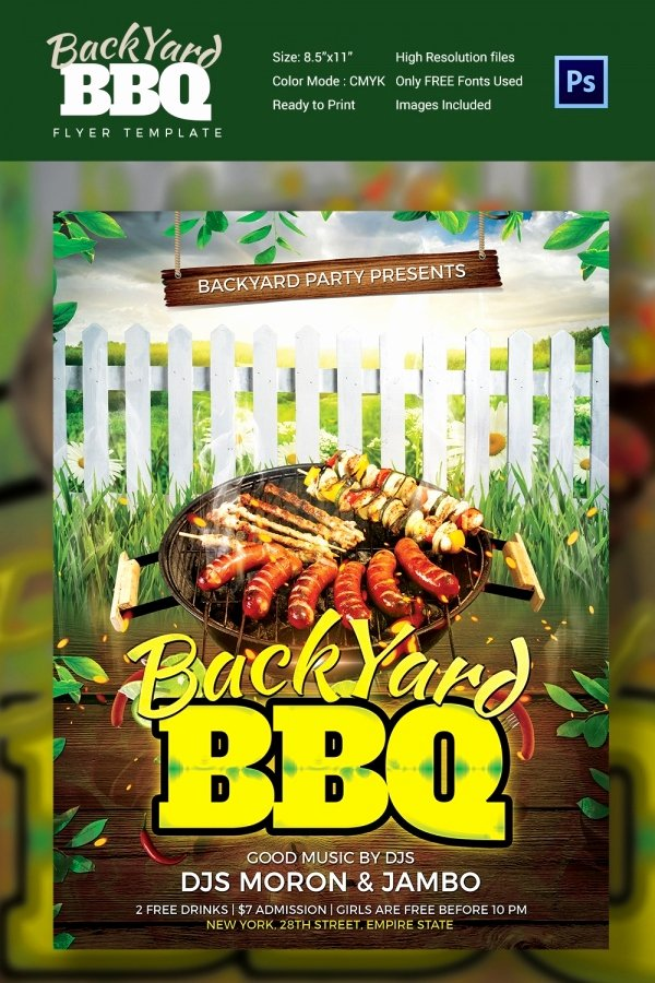Free Bbq Flyer Template New 28 Bbq Flyer Templates Free Word Pdf Psd Eps