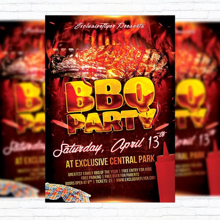 Free Bbq Flyer Template Unique 12 Best Flyers I Like Images On Pinterest