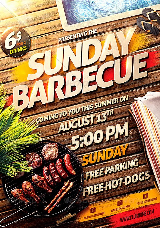 Free Bbq Flyer Template Unique 14 Cookout Flyer Template Psd Cookout Flyer