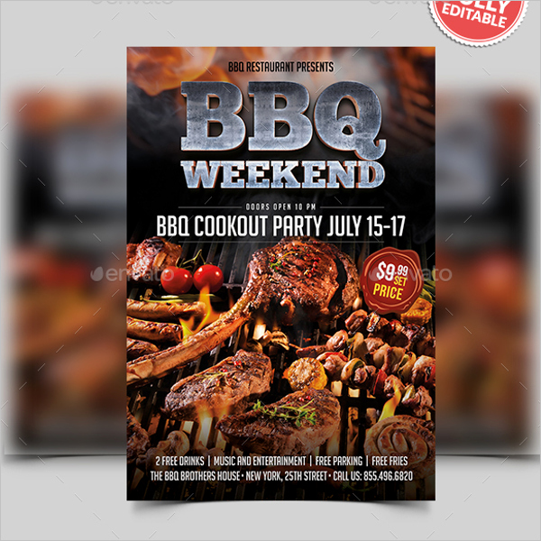 Free Bbq Flyer Template Unique 34 Bbq Flyer Templates Free Word Psd Designs
