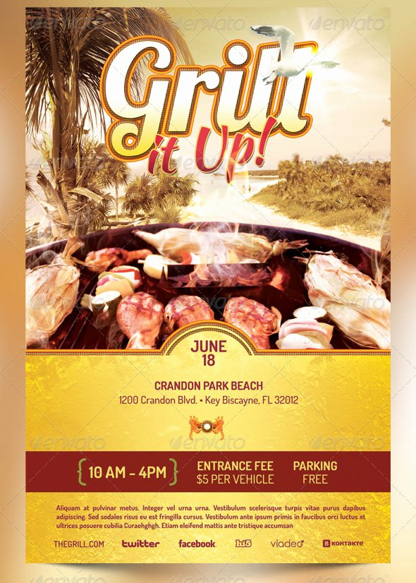 Free Bbq Flyer Template Unique Best Barbecue Flyer Templates Seraphimchris Graphic