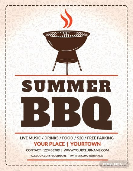 Free Bbq Flyer Template Unique Free Summer Bbq Flyer Template In Adobe Shop
