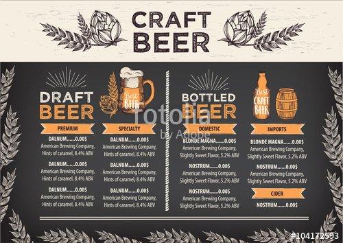 "Free Beer Menu Template Best Of ""beer Restaurant Cafe Menu Template Design "" Stock Image"