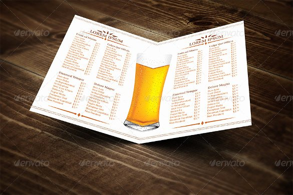 Free Beer Menu Template Fresh 20 Beer Menu Templates – Free Sample Example format