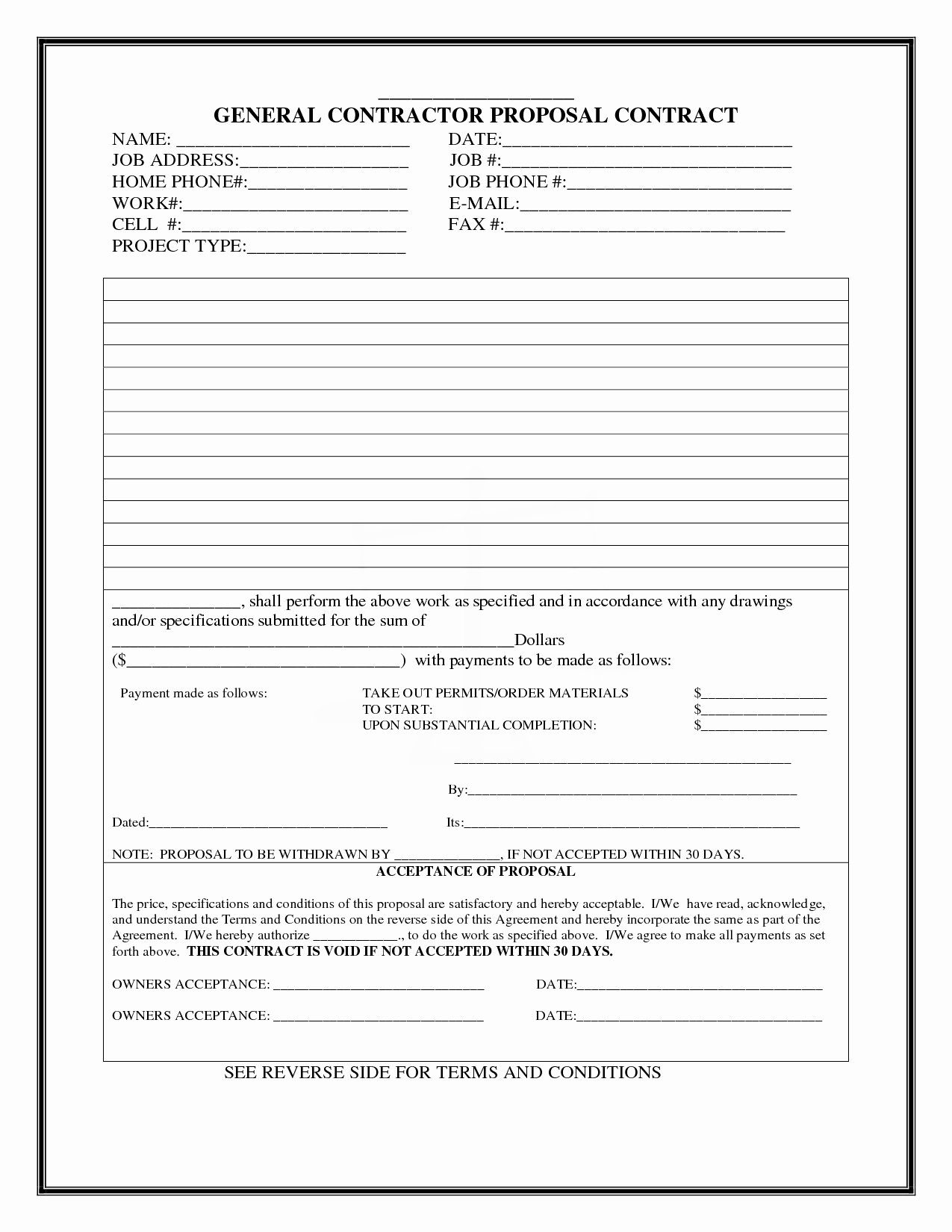 Free Bid Proposal Template Beautiful Construction Proposal Template
