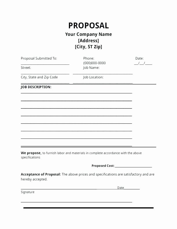 Free Bid Proposal Template Beautiful Electrical Contractor Proposal Template New Contractor