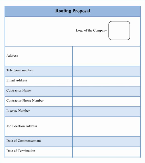Free Bid Proposal Template Lovely 12 Roofing Estimate Templates Pdf Doc