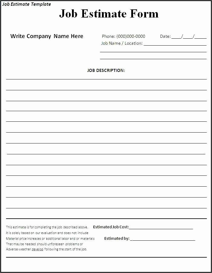 Free Bid Proposal Template New Free Construction Bid Proposal Template Download