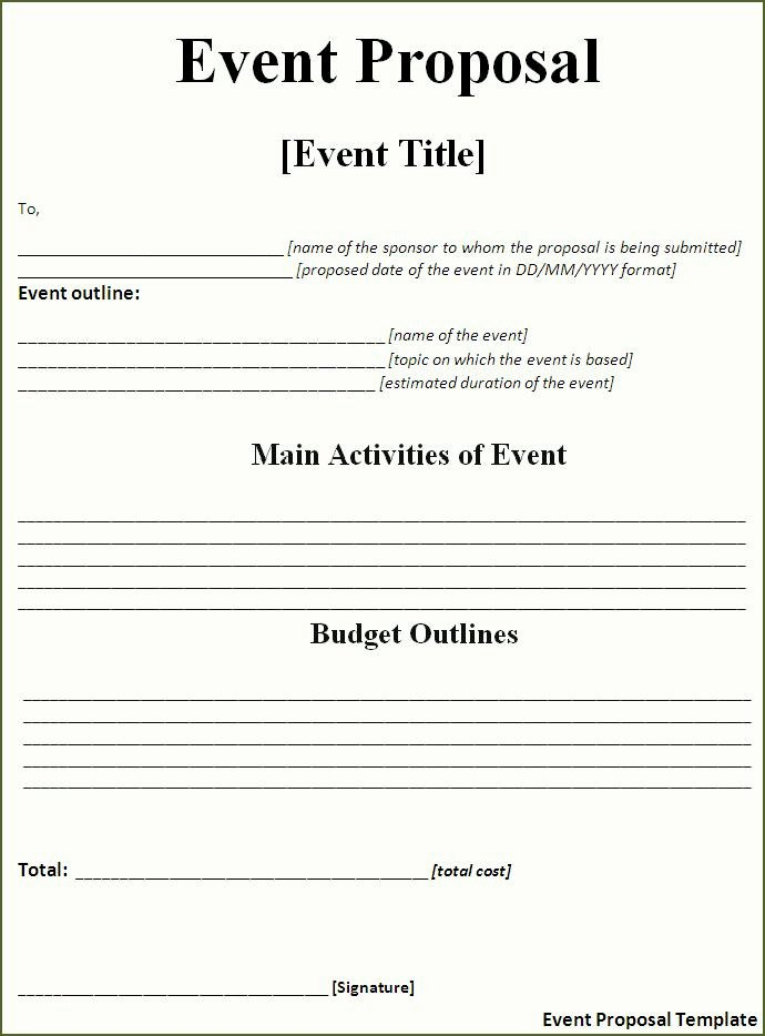 Free Bid Proposal Template New Proposal Templates