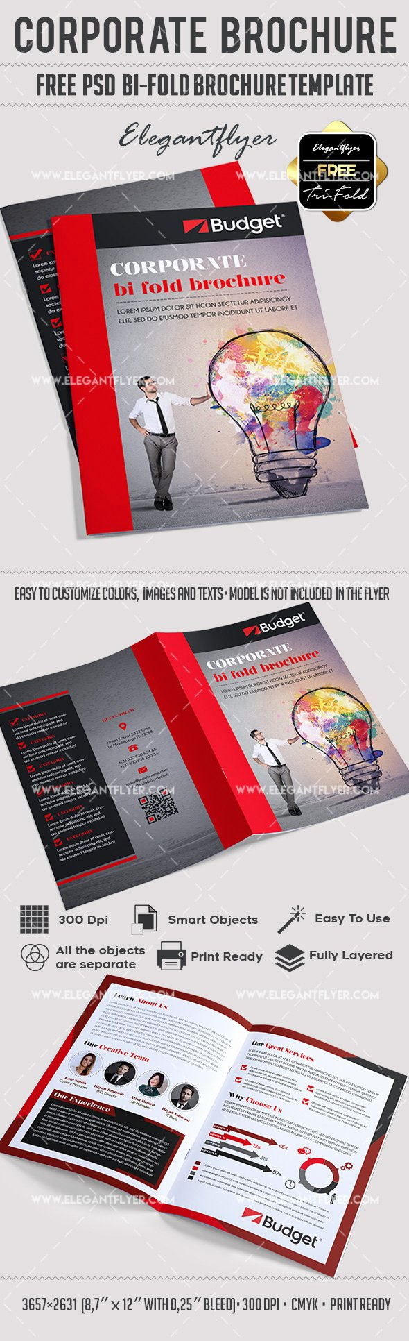 Free Bifold Brochure Template Awesome Corporate – Free Psd Bi Fold Psd Brochure Template – by
