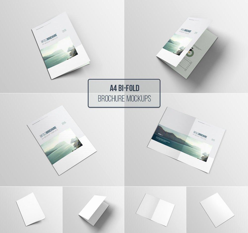 Free Bifold Brochure Template Elegant A4 Bifold Brochure Mockup