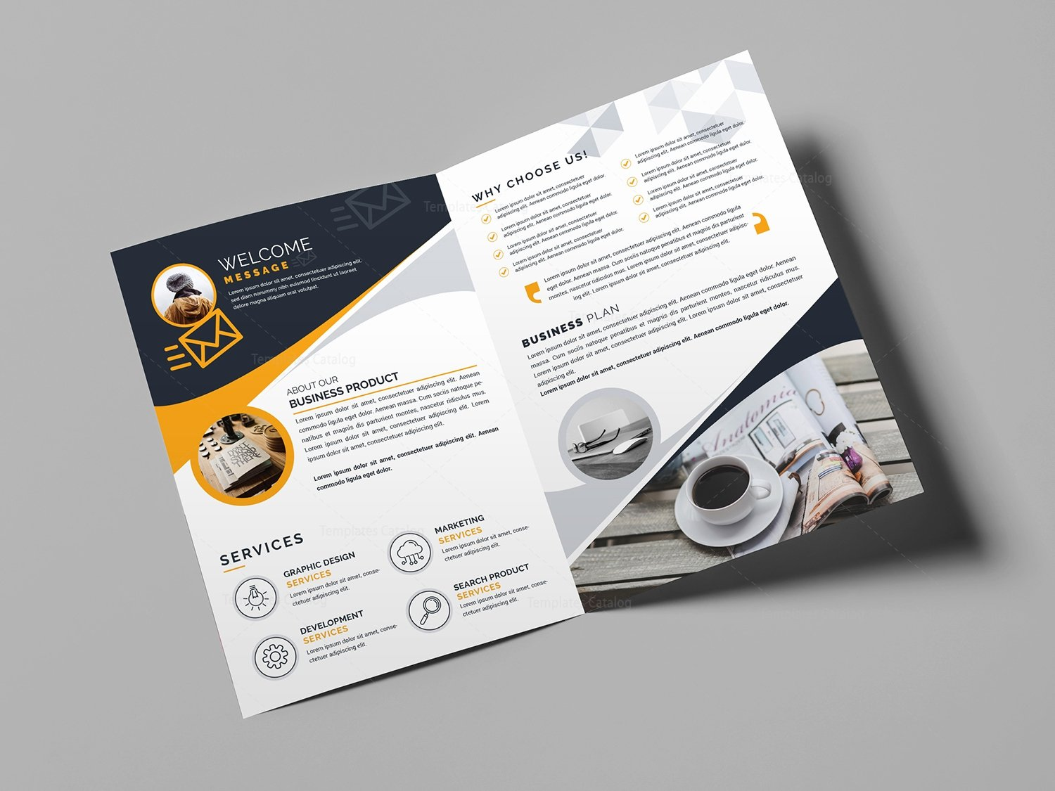 Free Bifold Brochure Template New Bi Fold Business Brochure Template Template Catalog