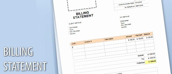 Free Billing Statement Template Beautiful Billing Statement Template for Word