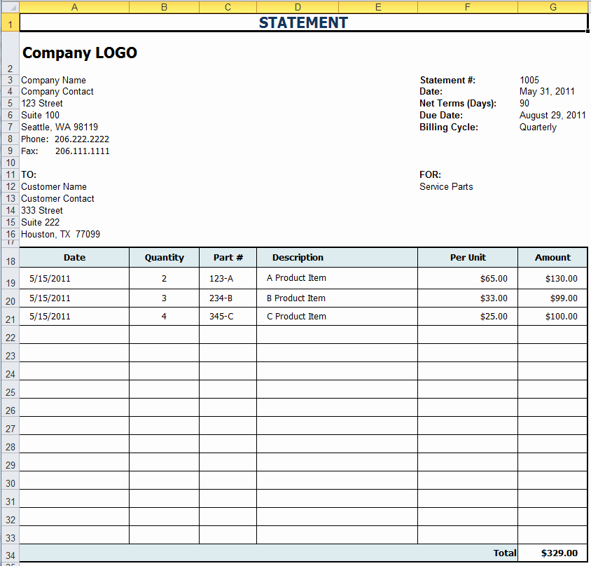 Free Billing Statement Template Best Of Free Excel Templates for Payroll Sales Mission