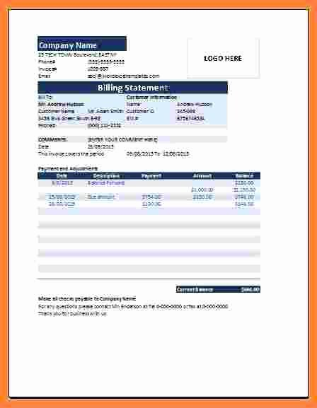 Free Billing Statement Template Luxury 8 Medical Billing Statement Template Free