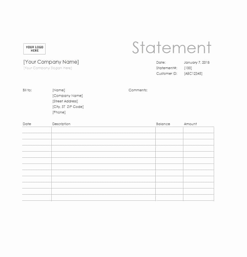 Free Billing Statement Template Unique 40 Billing Statement Templates [medical Legal Itemized