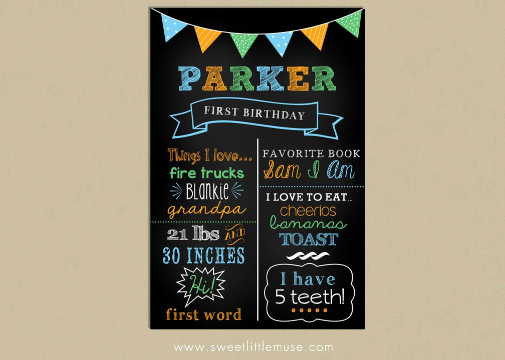 Free Birthday Chalkboard Template Best Of First Birthday Chalkboard Template Chalkboard by