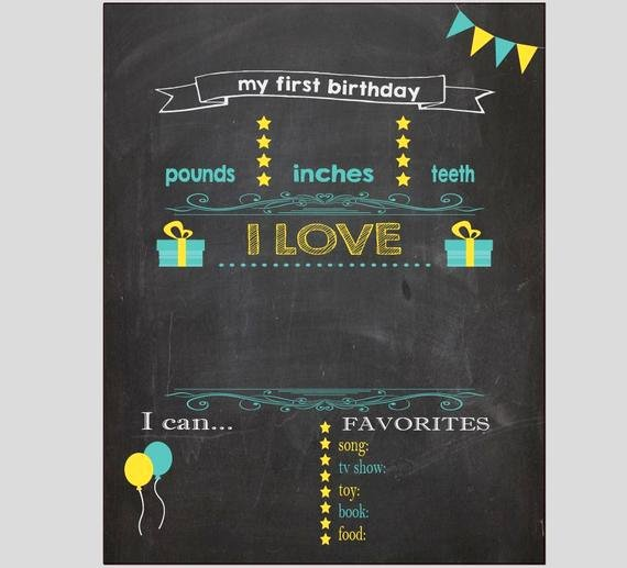 blank first birthday chalkboard diy 1st