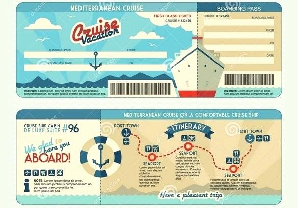 Free Boarding Pass Template Best Of Cruise Ticket Template Free Boarding Pass Invitation