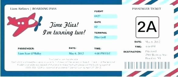 Free Boarding Pass Template Elegant Airplane Party Invitation Boarding Pass Template Mind